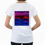Lights Abstract Curves Long Exposure Women s Loose-Fit T-Shirt (White) Back