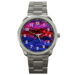 Lights Abstract Curves Long Exposure Sport Metal Watch Front