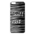 Black an white  Chill out  Apple Seamless iPhone 6 Plus/6S Plus Case (Transparent) Front