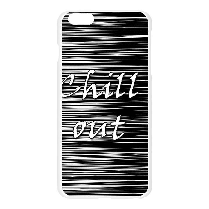 Black an white  Chill out  Apple Seamless iPhone 6 Plus/6S Plus Case (Transparent)