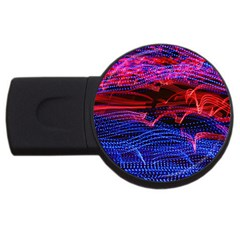 Lights Abstract Curves Long Exposure USB Flash Drive Round (4 GB)