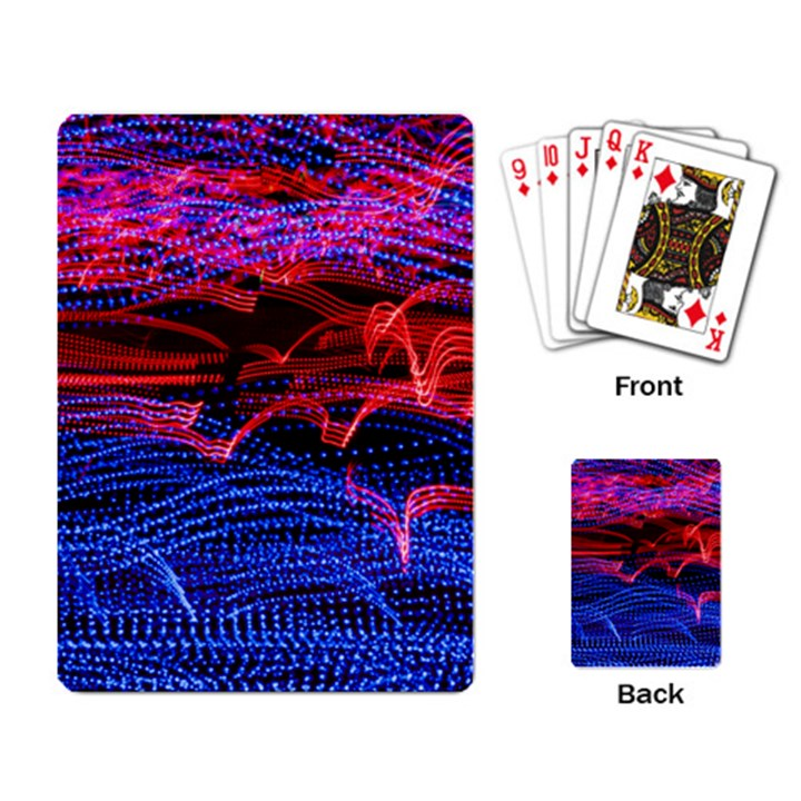 Lights Abstract Curves Long Exposure Playing Card