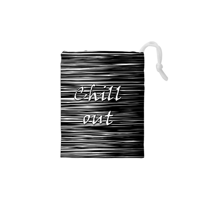 Black an white  Chill out  Drawstring Pouches (XS)