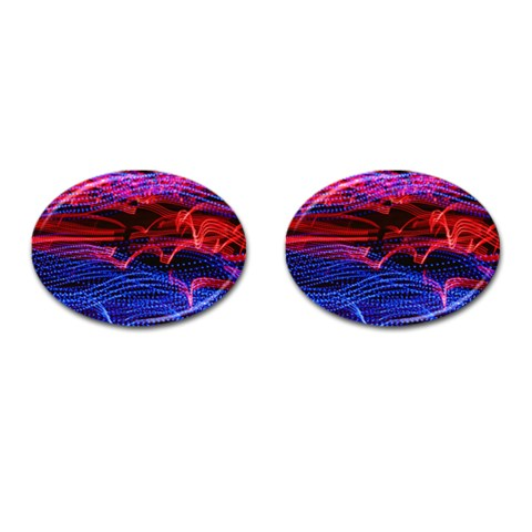 Lights Abstract Curves Long Exposure Cufflinks (Oval)