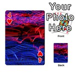 Lights Abstract Curves Long Exposure Playing Cards 54 Designs  Front - Heart4