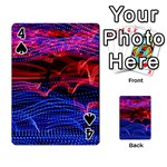 Lights Abstract Curves Long Exposure Playing Cards 54 Designs  Front - Spade4
