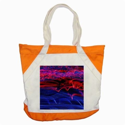 Lights Abstract Curves Long Exposure Accent Tote Bag