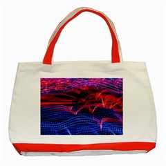 Lights Abstract Curves Long Exposure Classic Tote Bag (Red)