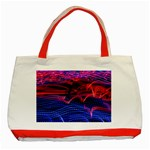 Lights Abstract Curves Long Exposure Classic Tote Bag (Red) Front