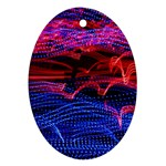 Lights Abstract Curves Long Exposure Oval Ornament (Two Sides) Front