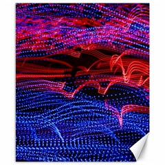 Lights Abstract Curves Long Exposure Canvas 8  x 10