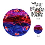 Lights Abstract Curves Long Exposure Playing Cards 54 (Round)  Front - Heart9