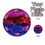 Lights Abstract Curves Long Exposure Playing Cards 54 (Round)  Front - HeartK