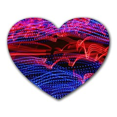 Lights Abstract Curves Long Exposure Heart Mousepads