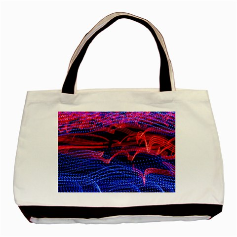 Lights Abstract Curves Long Exposure Basic Tote Bag (Two Sides)