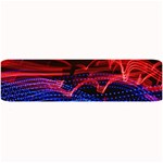 Lights Abstract Curves Long Exposure Large Bar Mats 34 x9.03 Bar Mat - 1