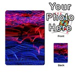 Lights Abstract Curves Long Exposure Multi-purpose Cards (Rectangle)  Back 33