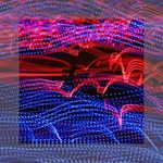 Lights Abstract Curves Long Exposure Mini Canvas 6  x 6  6  x 6  x 0.875  Stretched Canvas