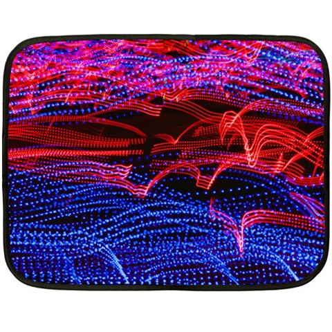 Lights Abstract Curves Long Exposure Double Sided Fleece Blanket (Mini)