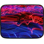 Lights Abstract Curves Long Exposure Double Sided Fleece Blanket (Mini)  35 x27 Blanket Back