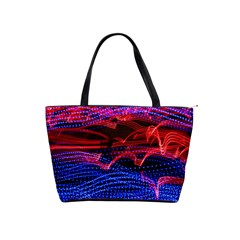 Lights Abstract Curves Long Exposure Shoulder Handbags