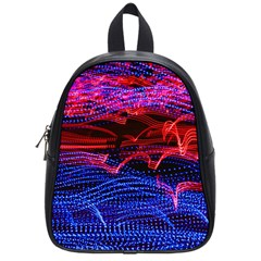 Lights Abstract Curves Long Exposure School Bags (Small)