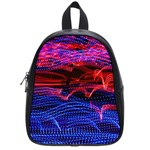 Lights Abstract Curves Long Exposure School Bags (Small)  Front
