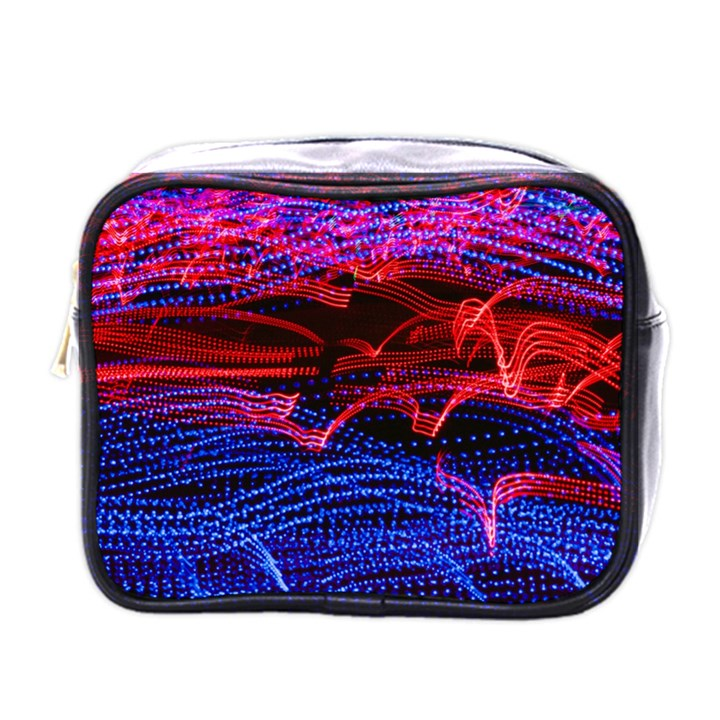 Lights Abstract Curves Long Exposure Mini Toiletries Bags