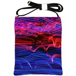 Lights Abstract Curves Long Exposure Shoulder Sling Bags Front