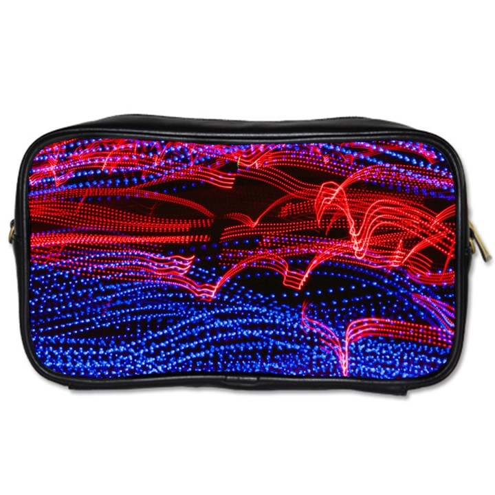 Lights Abstract Curves Long Exposure Toiletries Bags