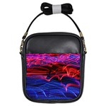 Lights Abstract Curves Long Exposure Girls Sling Bags Front