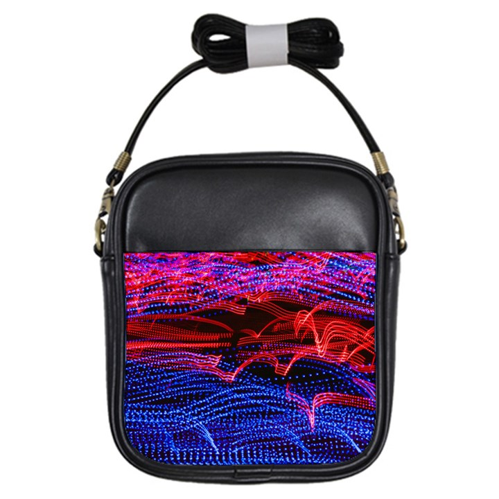 Lights Abstract Curves Long Exposure Girls Sling Bags