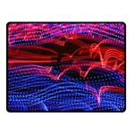 Lights Abstract Curves Long Exposure Fleece Blanket (Small) 50 x40 Blanket Front