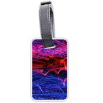 Lights Abstract Curves Long Exposure Luggage Tags (Two Sides) Back