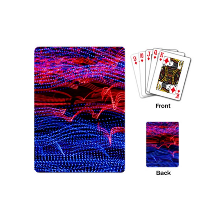 Lights Abstract Curves Long Exposure Playing Cards (Mini)