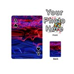 Lights Abstract Curves Long Exposure Playing Cards 54 (Mini)  Front - SpadeA