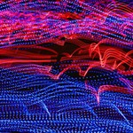 Lights Abstract Curves Long Exposure Storage Stool 12   Front