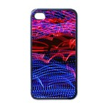 Lights Abstract Curves Long Exposure Apple iPhone 4 Case (Black) Front