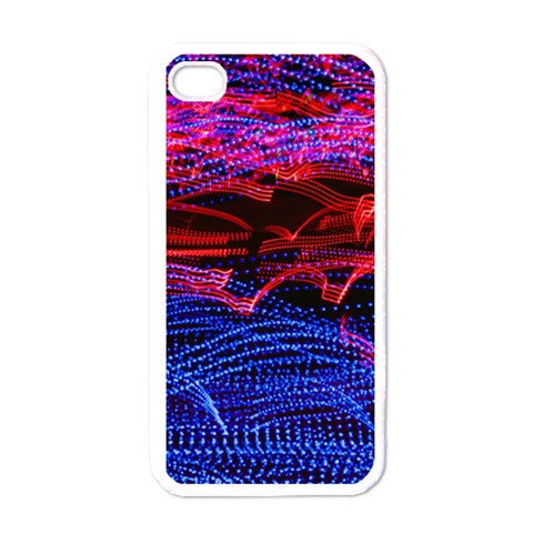 Lights Abstract Curves Long Exposure Apple iPhone 4 Case (White)