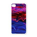 Lights Abstract Curves Long Exposure Apple iPhone 4 Case (White) Front