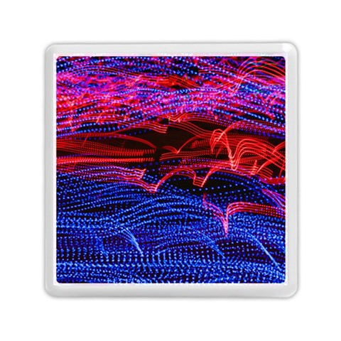 Lights Abstract Curves Long Exposure Memory Card Reader (Square)