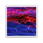 Lights Abstract Curves Long Exposure Memory Card Reader (Square)  Front