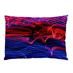Lights Abstract Curves Long Exposure Pillow Case (Two Sides)