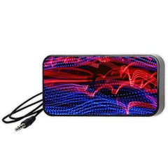 Lights Abstract Curves Long Exposure Portable Speaker (Black)