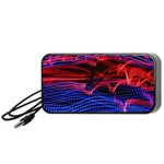 Lights Abstract Curves Long Exposure Portable Speaker (Black)  Front
