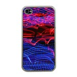 Lights Abstract Curves Long Exposure Apple iPhone 4 Case (Clear) Front