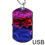 Lights Abstract Curves Long Exposure Dog Tag USB Flash (Two Sides)  Front