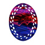Lights Abstract Curves Long Exposure Oval Filigree Ornament (2-Side)  Front