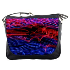 Lights Abstract Curves Long Exposure Messenger Bags