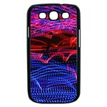 Lights Abstract Curves Long Exposure Samsung Galaxy S III Case (Black) Front